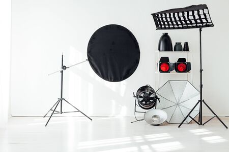 Photo for Photo studio equipment accessories photographer flashes - Royalty Free Image