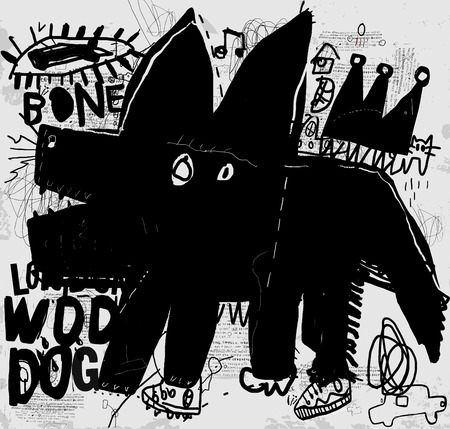 The symbolic image of a dog that barks