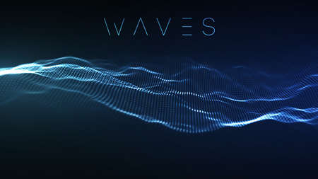 Photo pour Music abstract background blue. Equalizer for music, showing sound waves with music waves, music background equalizer vector concept. - image libre de droit