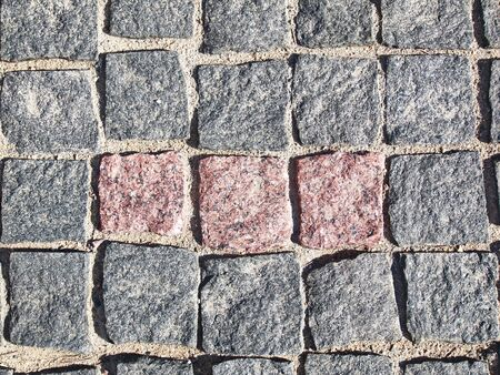 Photo for the texture is a square granite stone pavement - Royalty Free Image