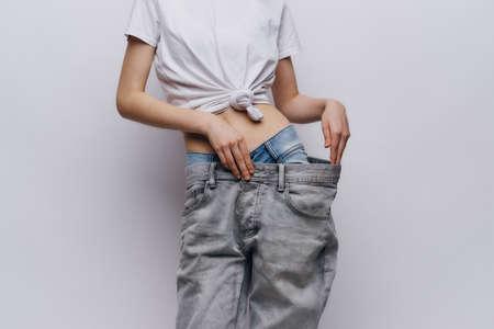 Photo pour losing weight, progress. - image libre de droit