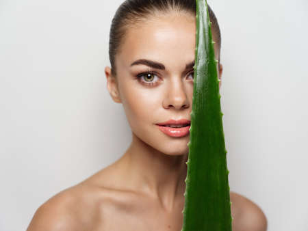 Foto für young woman clear skin natural look smile makeup portrait - Lizenzfreies Bild