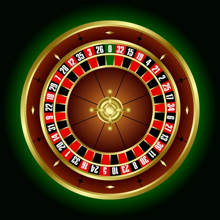 Roulette wheel in the vector