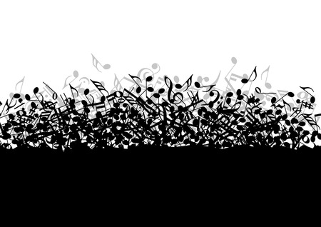 Photo pour Falling in a bunch of musical notes in vector - image libre de droit