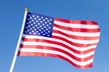 Photo pour USA flag waving. American flag. Celebrating Independence Day of America. - image libre de droit