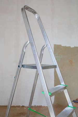 Metal aluminum ladder for repairs