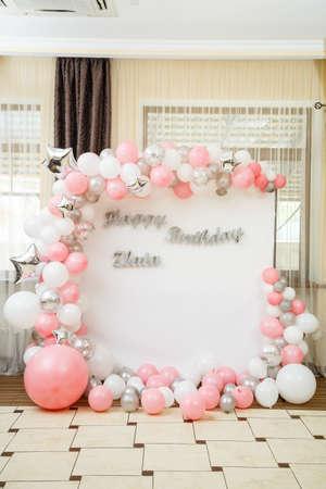 Photo pour Decoration and decor for children's party - image libre de droit