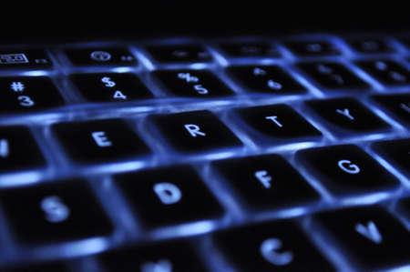 back-lit laptop keyboard