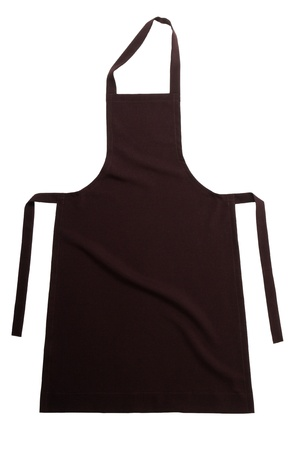 Brown apron isolated on white background