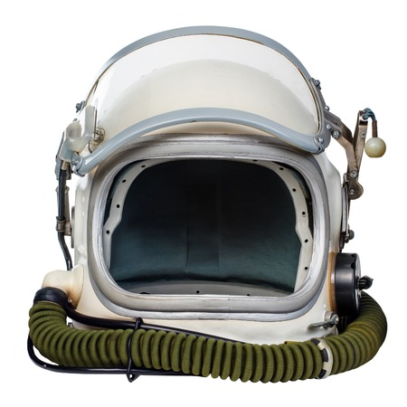 Photo for Vintage astronaut helmet isolated against a white background. - Royalty Free Image
