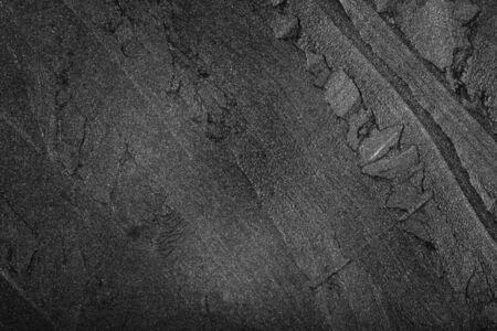 Foto de Black asphalt texture as background. Blank black bitumen background - Imagen libre de derechos