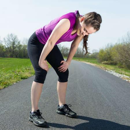 Foto de Young woman after successful sport workout has feeling happiness . - Imagen libre de derechos