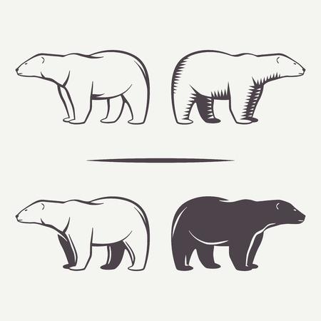 Ilustración de Bear symbols - Imagen libre de derechos