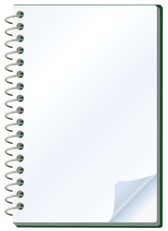 illustration of notepad