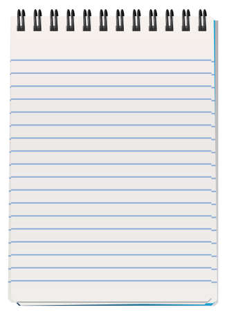 vector illustration of notepad