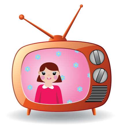 Illustration pour retro tv set - image libre de droit