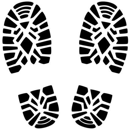 vector illustration of foot prints of a man