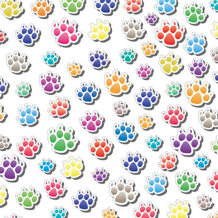 vector background of dog