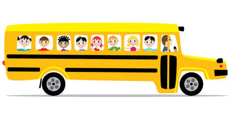 Illustration for  school bus and children - Royalty Free Image