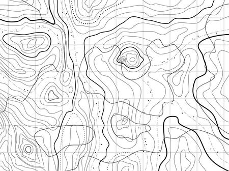 Illustration pour abstract topographical map with no names - image libre de droit