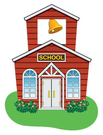 Illustration pour vector illustration of country school house - image libre de droit