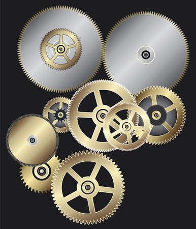 vector background of clock gears