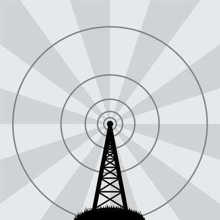 vector illustration of radio tower: Royalty-free vector graphics