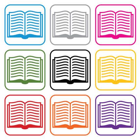 set of book symbols