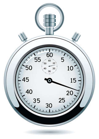 design of silver stopwatch