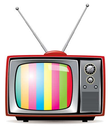 illustration of retro tv set