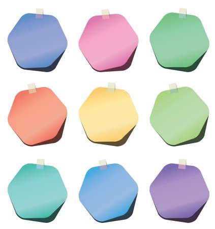 hexagon paper notes