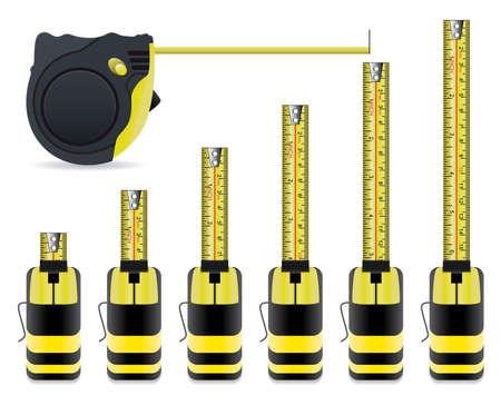 vector measure tape set