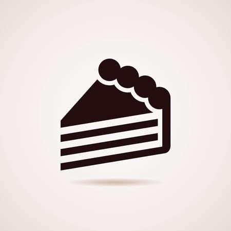 Vektor für icon of cake slice - Lizenzfreies Bild