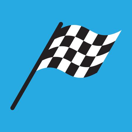 Illustration pour Race flag simple design illustration vector - image libre de droit
