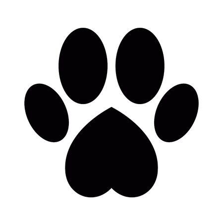 Ilustración de Dog or cat paw print - Imagen libre de derechos