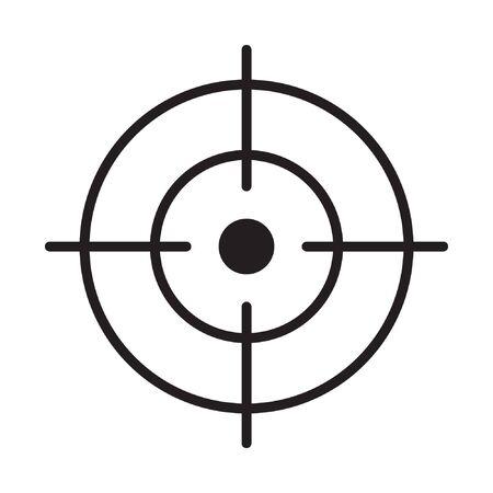 Illustration pour Focus icon, line vector symbol - image libre de droit