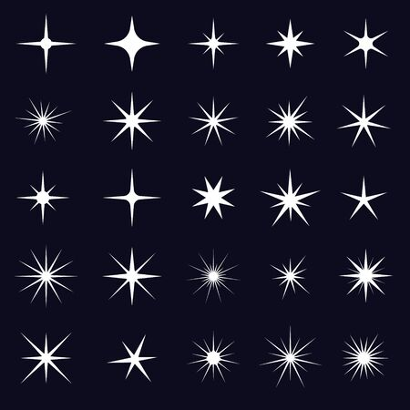 Illustration for Vector sparkles icon set. Star element - Royalty Free Image