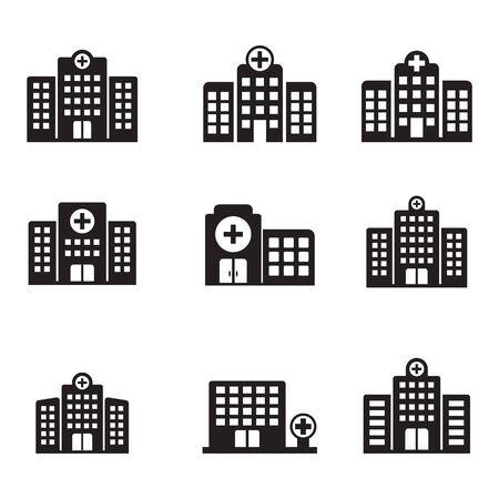 Photo pour Hospital icon, Hospital building vector icon isolated - image libre de droit