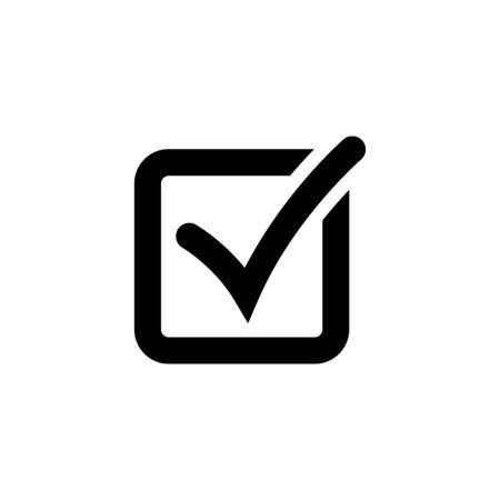 Illustration pour Check mark or checkbox pictogram - image libre de droit