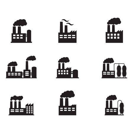 Illustration for Factory icon. Vector illustration of industry icon. - Royalty Free Image
