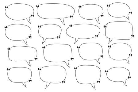 Illustration pour Speech Bubbles quotation marks. Quote blank template. - image libre de droit