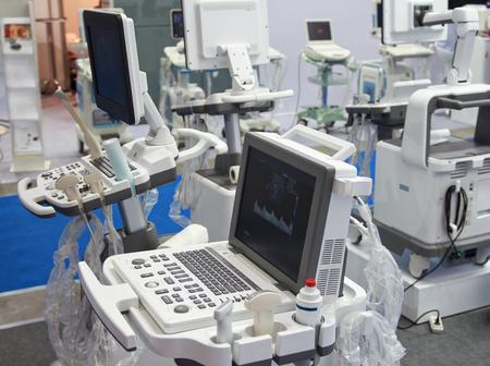 Foto de Medical equipment in the exhibition hall. Medicine - Imagen libre de derechos