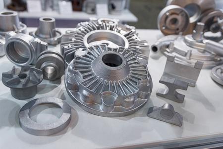 Photo pour Metal products made by casting techniques closeup. Industry - image libre de droit