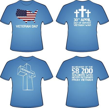 Graphic T- shirt design. Vietnam war, illustration