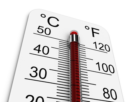 Thermometer indicates extremely high temperature.