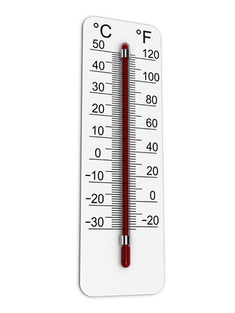 Photo for Thermometer indicates extremely high temperature. - Royalty Free Image