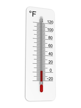 Thermometer indicates low temperature