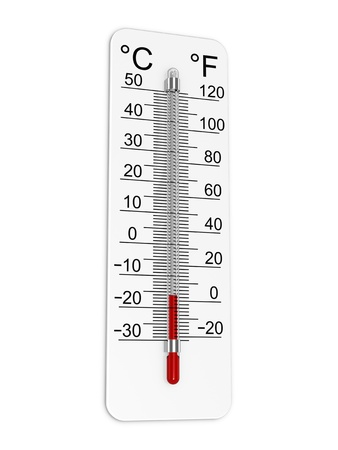 Thermometer indicates low temperature.