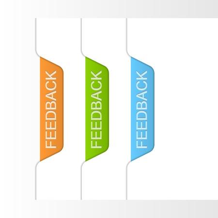 Feedback labels illustration