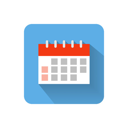 Flat calendar icon. Vector illustration